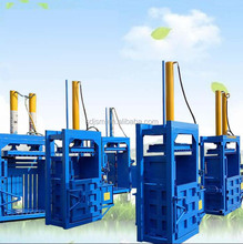 Straw bale press machine hay compress hydraulic baler waste paper briquette packing machinery