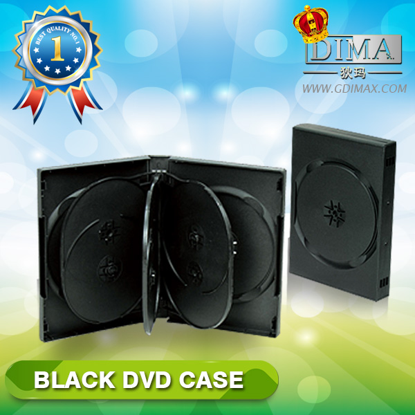 PP 27mm 8 discs black DVD case with 3 trays
