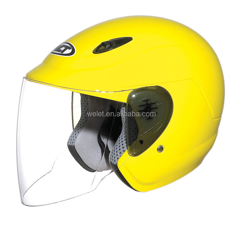 Vintage motorcycle open face helmet