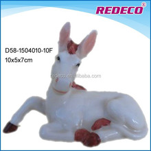 Ceramic handmade donkey sculpture decoration for sale
