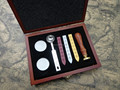 Vintage Letter sealing Wax Stamp Set (wooden handle) with Solid Wood Box