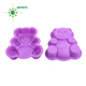 Bear shaped silicone cake form baking chocolate mold