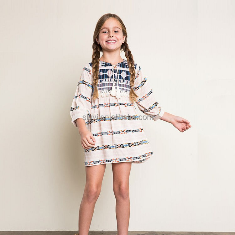 2016 autumn fashion kids girls models casual beautiful dress for pakistani girls