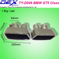 auto spare tuning car racing exhaust muffler tip for BM--W GT5 class
