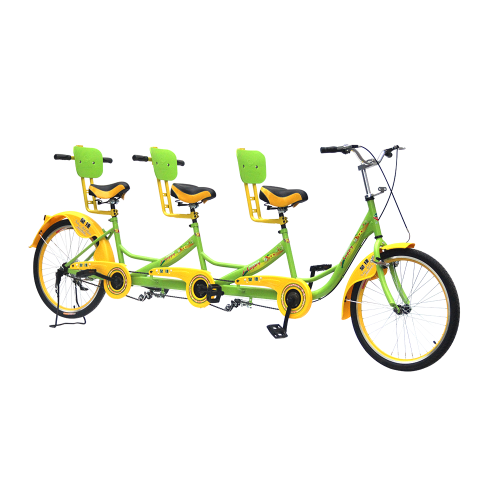 24 inch three seat bicycle tandem bike/leisure sightseeing bicycle for three people