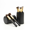 8pcs Pro makeup brushes set with cosmetic cylinder Eco-Friendly Cosmetic Brush