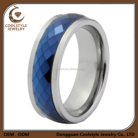Tungsten Carbide Blue IP Multi Faceted