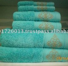Pakistan Home Gift Cotton Embroidery Quick-Dry Luxury Bath Towels