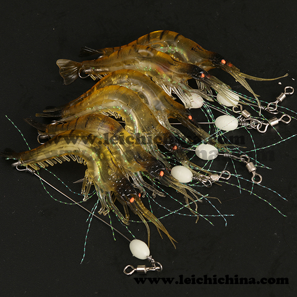 Popular high quality shrimp soft plastic fishing lures