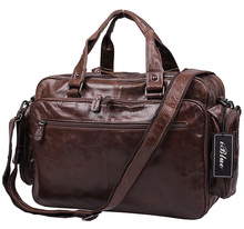 Iblue BR003 Genuine Leather Office Laptop Business Messenger Briefcase Bag Men 16in