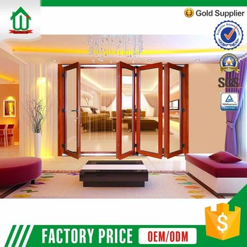 Economic extrior lowe glass aluminum folding door