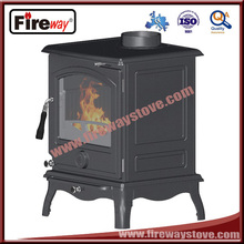 Flue outlet--top or rear and ashpan removable wood burning fireplace