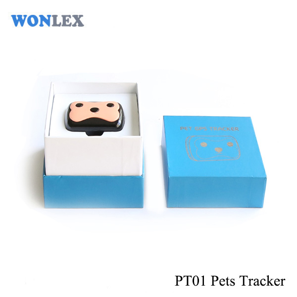 Wonlex brand mini cheap gps tracker pets dog gps tracker PT01 with remote monitoring