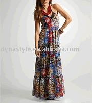100% Silk Printed Dresses