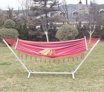 Outdoor Yard Garden Patio Deluxe Double Hammock With Stand Supports 2 Person