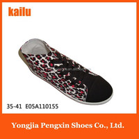 Fashion casual ladies flat shoes sexy leopard painted printed boot
