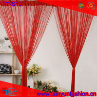 red cheap string curtain