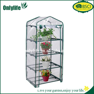 4 Shelves Greenhouse Portable Mini Outdoor Green House