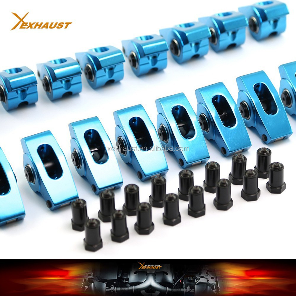 "roller rocker arm sbc chevy 350 1.5 Ratio 7/16"" cylinder head crankshaft flywheel"