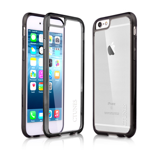 C&T Hybrid Cellphone Case Soft TPU Bumper Clear Plastic Back Cover for iPhone 6s Plus 5.5""
