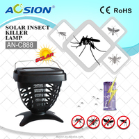 Solar garden light insect mosquito killer zapper
