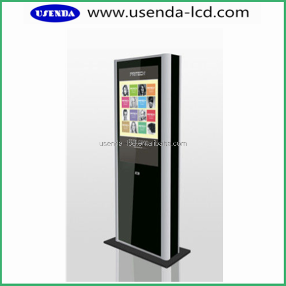 55inch Floor Standing LCD Advertising Kiosk, LCD Advertising Equipment with built-in pc
