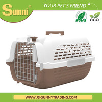 Pet carrier portable pastic kennels for dog