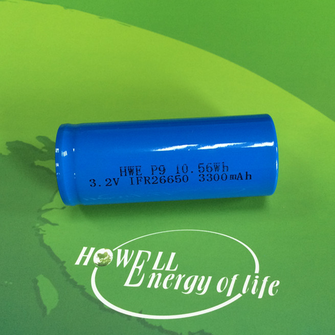 IFR 26650 3.2v 3300mAh rechargeable LiFePo4 battery for solar street light