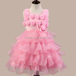 AL 2178G New floral applique girls party dress net frock designs for kids