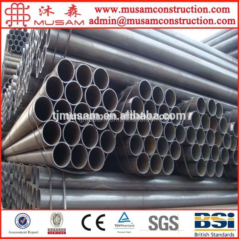 Steel price per ton SCH40 black steel pipe / black pipe layers 6