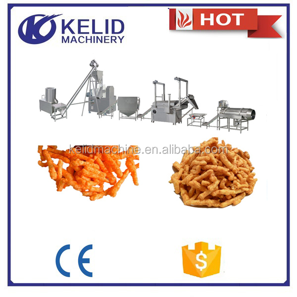 High quality automatic flavors of kurkure machine cheetos processing line