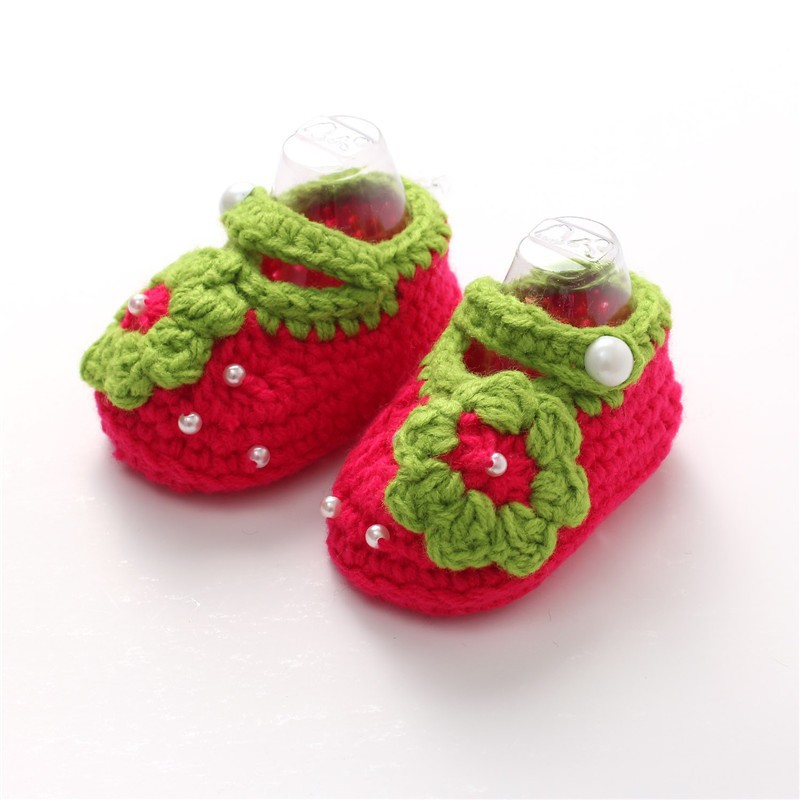 Cute hand crochet baby girl shoes,new style baby shoes 2015
