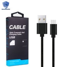 High Quality Nylon Braided Micro USB Cable,2M 6.6FT Tangle-free 2A Connector Fast Charging Micro Cable For Android