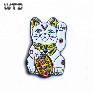 WTD Wholesale High quality custom platingenamel metal anime pin color and audi badges with our own designs