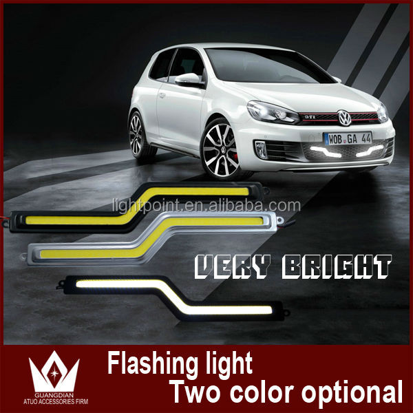 Z COB DRL 18cm 12V daylight 12W COB car LED DRL light 100% waterproof bumper decorative sticker fog headlight COB LED DRL