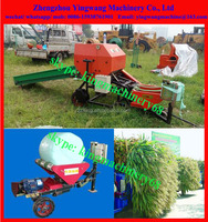 plastic film wrapped corn silage baler machine