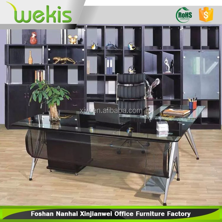 tempered glass desk,glass desk partition,modern glass steel office desk