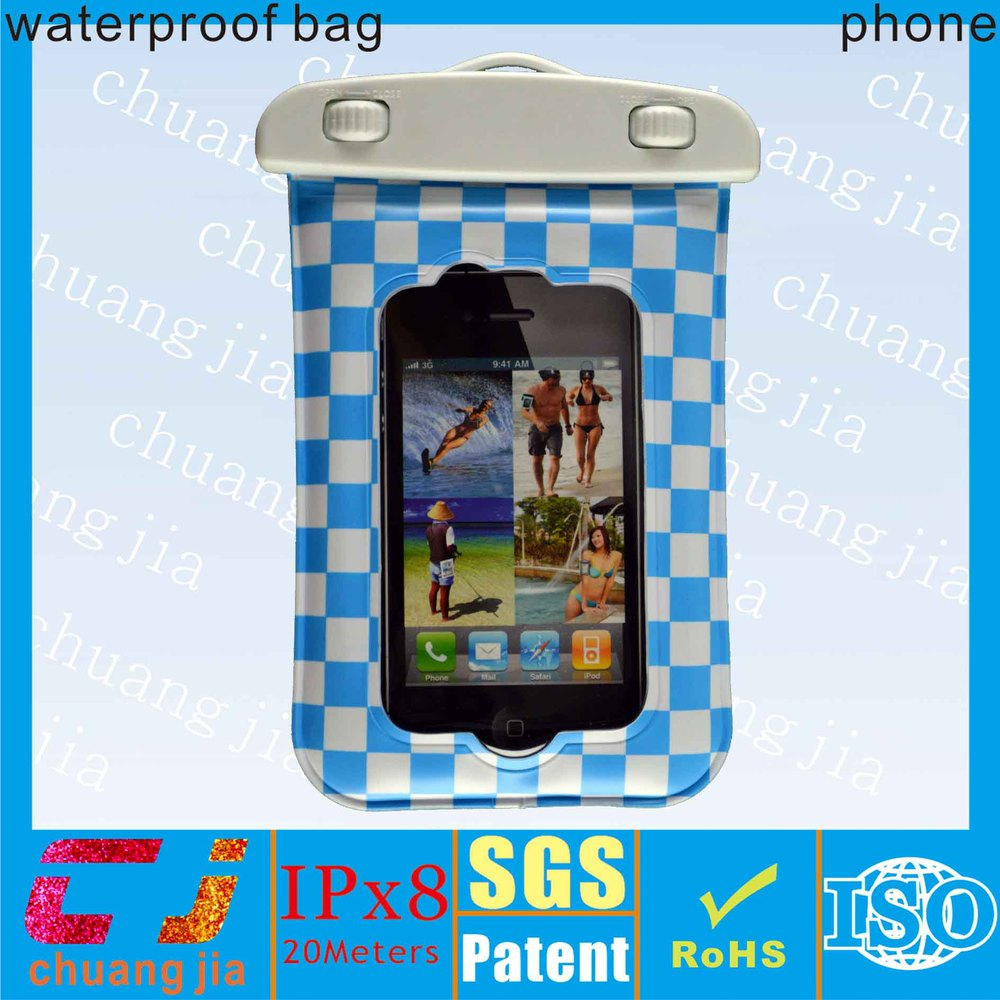 2015 new arrival eco-friendly tpu phone bag waterproof case for iphone4s with ipx8 certificate