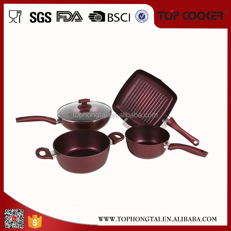 Elegant design with detachable handle enterprise quality cookware