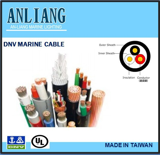 DNV/UL 3core 13.9mm PVC coated insulated marine enameled copper wire