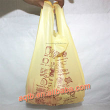 yellow polyester t-shirt bag for shopper
