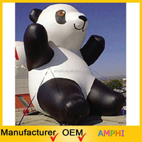 2015 top sale giant inflatable panda, inflatable animal replica, inflatable mascot