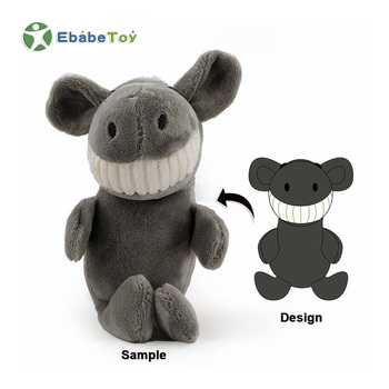 Most Popular Small Soft High Quality Plush Stuffed Cartoon Donkey Toy Key Chain With Grinned Smile