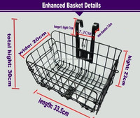folding bicycle front steel basket