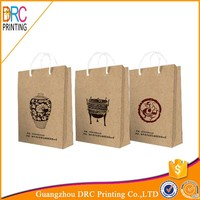 Wholesale New design recycle printed paper bag with handle price brown kraft shopping paper gift bag manufacturer
