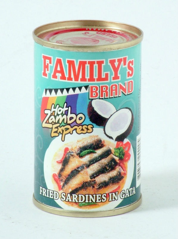Family's Brand Sardines in Coconut Milk, Zambo Express