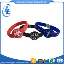 Free samples custom made design printed bangle cuff bracelet silicone wristband watch