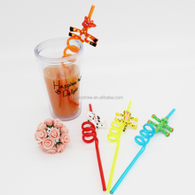 funny deer shaped drinking straws