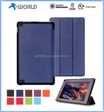 7 inch Three fold ultra slim stand PU leather case for kindle fire 7, tablet leather case
