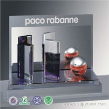 acrylic counter top perfume display